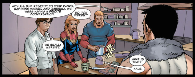 Avengers Assemble #9. Written by Kelly Sue DeConnick. Art by Stefano Caselli. November 14 2012. Marvel Comics.