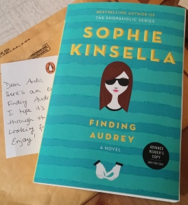Advanced Reader's Copy. Finding Audrey by Sophie Kinsella. Young Adult. June 2015.