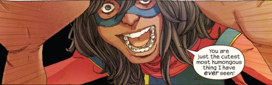 Ms Marvel #8. Kamala Khan. Ms Marvel. Marvel. September 10, 2014. Cover Art by Jamie McKelvie. Written by G Willow Wilson. Art by Adrian Alphona.