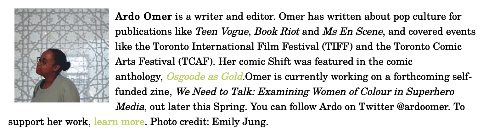 """Screenshot of Room Magazine's """"We Got Next: Emerging Black Writers You Should Be Paying Attention To"""" list featuring me"""